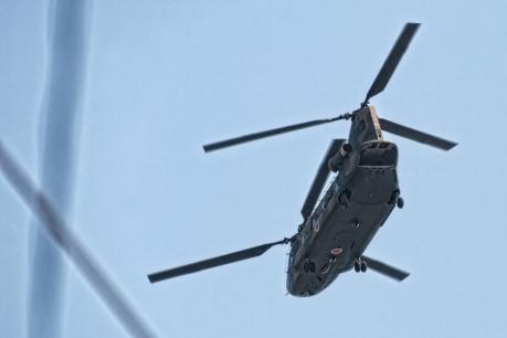 木更津駐屯地のCH-47チヌーク