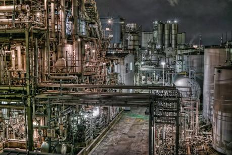 京浜工業地帯_川崎_千鳥町の夜景