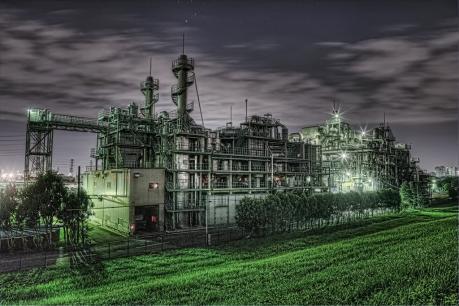 荒川水循環センターのプラント夜景