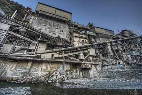 奥多摩工業氷川工場超広角撮影