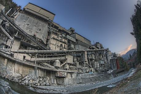 奥多摩工業氷川工場魚眼撮影