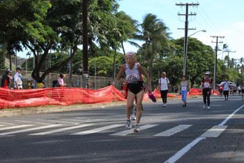 マラソン中の様子