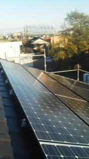 三洋のソーラーアーク近くの太陽光発電工事現場