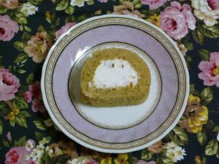オレンジピールロールケーキ試作カット