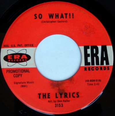 Lyrics - So What! ($685)