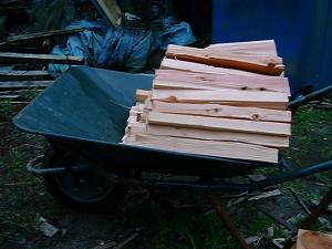重箱石の薪割り2