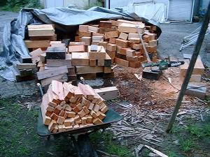 重箱石の薪割り1