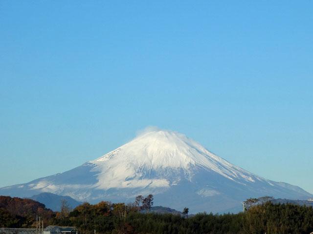 富士山も白く