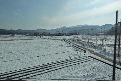 雪景色(車窓より眺める)