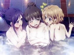 43moe 180145 bathing breast_hold fujii_yasuo hanasaku_iroha matsumae_ohana naked oshimizu_nako tsurugi_minko