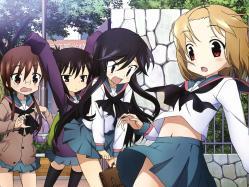 43moe 180521 a_channel kaidou_hiroyuki nagi_(a_channel) run_(a-channel) seifuku thighhighs tooru yuuko_(a-channel)