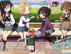 43moe 176786 a_channel nagi_(a_channel) run_(a-channel) sasaki_masakatsu seifuku thighhighs tooru yuuko_(a-channel)
