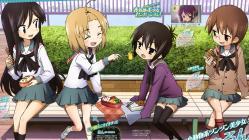169moe 176786 a_channel nagi_(a_channel) run_(a-channel) sasaki_masakatsu seifuku thighhighs tooru yuuko_(a-channel)