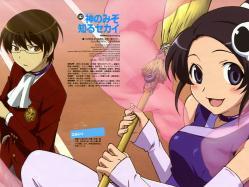 43moe 164043 elsea_de_lute_irma kami_nomi_zo_shiru_sekai katsuragi_keima komori_hideto thighhighs