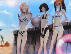 43moe 184769 bikini huke kiryu_moeka makise_kurisu megane steins;gate swimsuits trap urushibara_luka