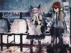 43moe 184773 faris_nyanyan headphones huke maid makise_kurisu steins;gate
