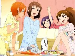 43moe 147134 inami_mahiru pajama takanashi_nazuna taneshima_poplar tsuchiya_yuuta working!! yamada_aoi