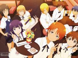 43moe 178041 adachi_shingo inami_mahiru satou_jun shirafuji_kyouko souma_hiroomi takanashi_souta taneshima_poplar todoroki_yachiyo waitress working!! yamada_aoi