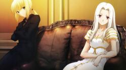 moe 175078 dress fate_stay_night fate_zero irisviel_von_einzbern niwa_yasutoshi overfiltered saber screening
