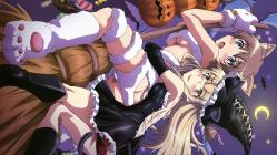 1691moe 196654 animal_ears halloween lynette_bishop megane pantsu perrine-h_clostermann strike_witches tail underboob witch02