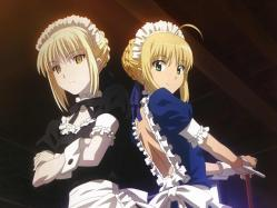 moe 201750 carnival_phantasm fate_stay_night maid saber saber_alter thighhighs