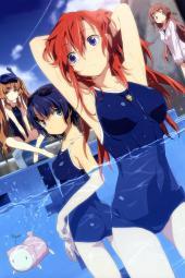 moe 205802 ano_natsu_de_matteru kitahara_mio megane school_swimsuit swimsuits takatsuki_ichika tanigawa_kanna uon_taraku yamano_remon