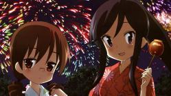 yande.re 211062 a_channel megane nagi_(a_channel) sasaki_masakatsu yukata yuuko_(a-channel)