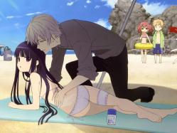 moe 209169 bikini calendar inu_x_boku_ss shirakiin_ririchiyo swimsuits tagme yoshida_takahiko