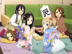 yande.re 210103 akiyama_mio hirasawa_yui kimono k-on! kotobuki_tsumugi nakano_azusa sakamoto_kazuya tainaka_ritsu