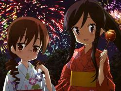 yande.re 211062 a_channel megane nagi_(a_channel) sasaki_masakatsu yukata yuuko_(a-channel)a