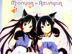 yande.re 213547 akiyama_mio animal_ears k-on! nakano_azusa nekomimi sagawa_haruka taila
