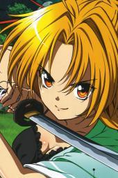 yande.re 215857 armor bra cleavage japanese_clothes maeda_inuchiyo oda_nobuna oda_nobuna_no_yabou open_shirt shibata_katsuie sword yukimura_ai