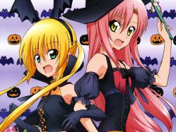 43yande.re 230431 devil dress halloween hayate_no_gotoku katsura_hinagiku oohashi_sachiko sanzenin_nagi thighhighs wings witch