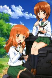4ayande.re 229433 akiyama_yukari girls_und_panzer isuzu_hana nishizumi_miho reizei_mako seifuku sugimoto_isao takebe_saori thighhighs