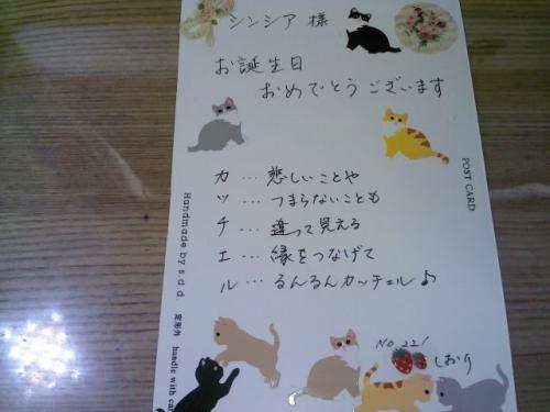 しおりさん211誕生カード表