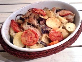 鶏ももと野菜のオーブン焼き