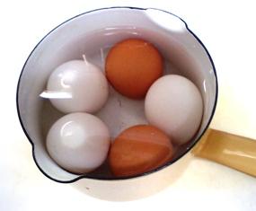 ミルクパンでゆで卵♪