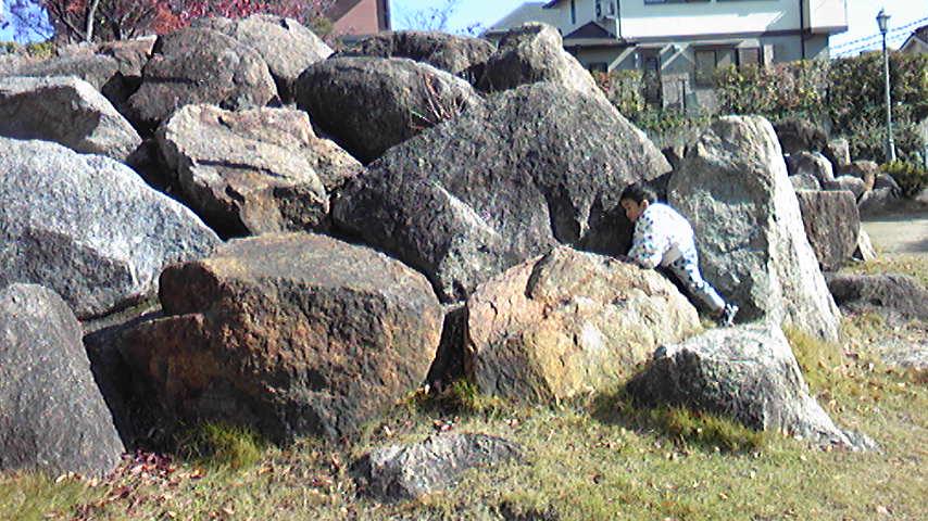 石をのぼる