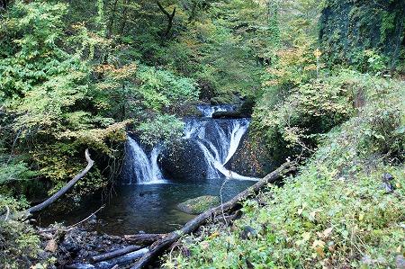 白糸二段の滝768