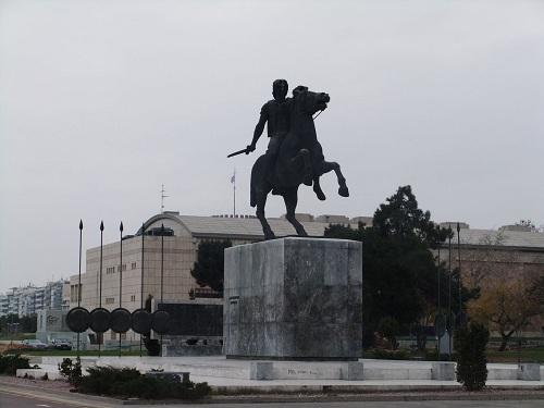 テサロニキ_アレクサンドロス大王像