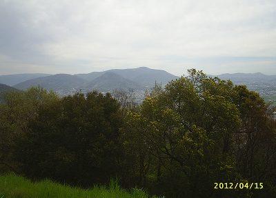 城山の城が在る山