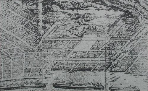 鹿児島城古図