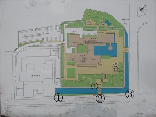 鹿児島城地図