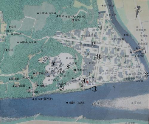 人吉城地図