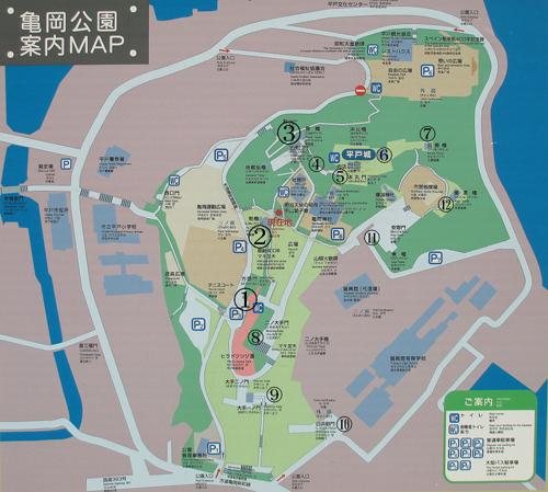 平戸城地図
