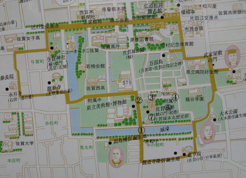 佐賀城地図