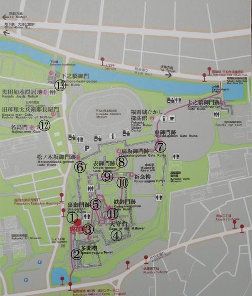福岡城地図