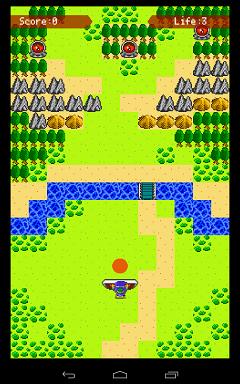 シールドクエストゲーム画面