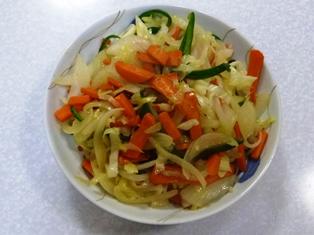 初めての野菜炒め