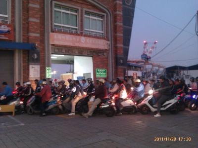 沢山のバイク